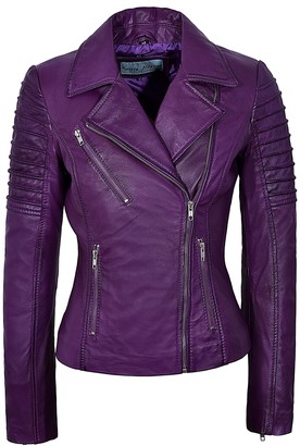 Smart Range New Ladies 9334 Fashion Designer Biker Style Real Soft Lambskin Leather Jacket (14