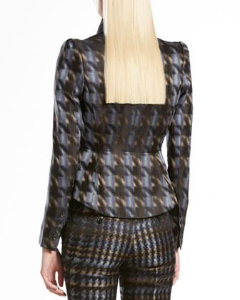 Gucci Silk Houndstooth Jacket