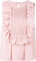 L'Autre Chose ruffled trim top - women - Cotton/Polyimide/Spandex/Elastane - 40