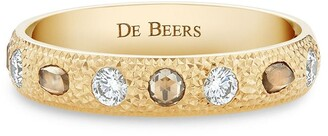 De Beers 18kt yellow gold small Talisman diamond band