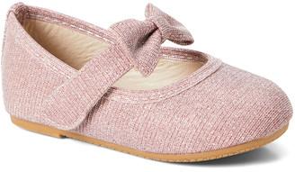 Blush B-Lush Zula Shoes Girls' Mary Janes BLUSH - Blush Bow Flat - Girls