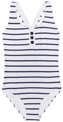 Heidi Klein Kids Ruby striped swimsuit