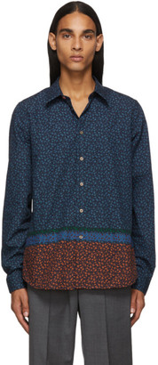 Paul Smith Navy Floral Tailored Shirt