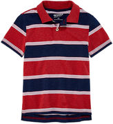 Arizona Short Sleeve Stripe Pique Polo Shirt - Preschool