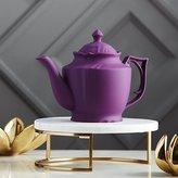 CB2 Lizzy Royal Purple Teapot