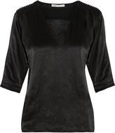 Maje Telly bead-embellished satin top