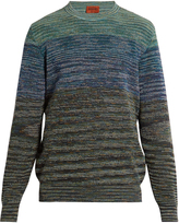 Missoni Crew-neck striped cotton-blend sweater