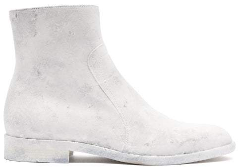 3f11ec140c1 Sirya Coated Leather Ankle Boots - Mens - White
