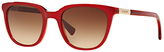 Ralph Lauren Ralph RA5206 Gradient D-Frame Sunglasses, Dark Red