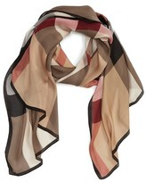 Burberry Women's 'Ultra Mega Check' Washed Mulberry Silk Scarf