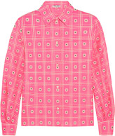 Miu Miu Cotton-jacquard shirt