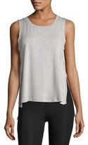 Beyond Yoga Varsity High-Low Tank Top, Light Gray