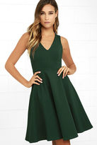 LuLu*s Hello World Dark Green Midi Dress