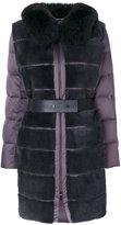 Guy Laroche fur panelled parka coat
