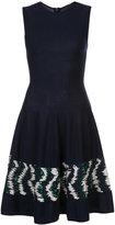 Oscar de la Renta embroidered skirt dress - women - Virgin Wool - L