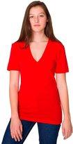 American Apparel 6456 - Unisex Sheer Jersey Short-Sleeve Deep V-Neck