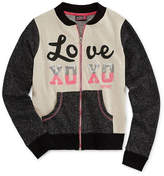 XOXO Girls Lightweight Track Jacket-Big Kid