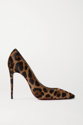 Christian Louboutin Kate 100 Leopard-print Calf Hair Pumps - Leopard print