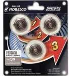 Norelco HQ9 Replacement Heads For Shaver Model 8140XL by