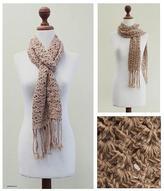 100% alpaca scarf, 'Winter Mystique'