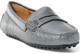Ralph Lauren Belen Metallic Leather Loafer