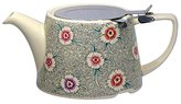 Kitchen Craft London Pottery Company Kaffe Fassett Oval-Filter Ceramic Infuser Teapot, 750 ml (26.5 fl oz) – Dianthus