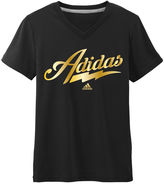 adidas Girls Short Sleeve T-Shirt-Big Kid
