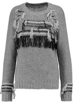 Autumn Cashmere Fringed Knitted Cashmere Sweater