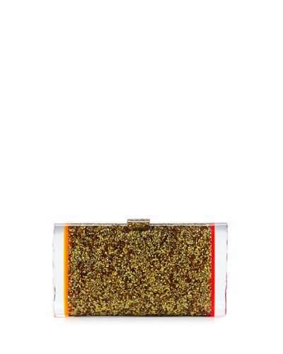 Edie Parker Lara Backlit Acrylic Clutch Bag