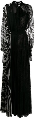 Philipp Plein Patchwork Long Evening Gown