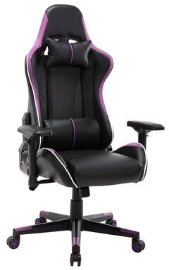 Inbox Zero PC & Racing Game Chair Color: Purple