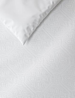 Marks and Spencer Pure Cotton Floral Matelasse Bedding Set