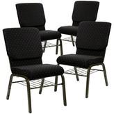 Church's Chair Flash Furniture Seat Finish: Black