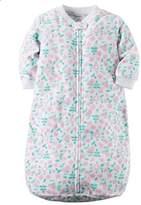 Cartrs Baby Girl 0-9 Months White Floral Zip Up Fleece Sleepsack, Bag