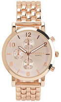 Aeropostale Womens Classic Metal Watch Rose Gold