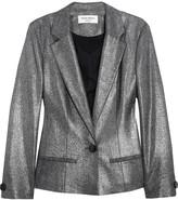 Metallic twill blazer