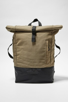 French Connenction Canvas Roll Top Backpack