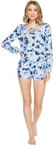 PJ Salvage Blue Batik Tie-Dye Romper Women's Jumpsuit & Rompers One Piece