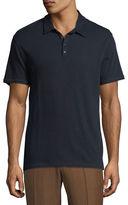 Vince Raw-Edged Polo Shirt
