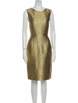 Oscar de la Renta 2011 Knee-Length Dress Gold