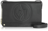 Armani Jeans Black Faux Leather Crossbody Bag
