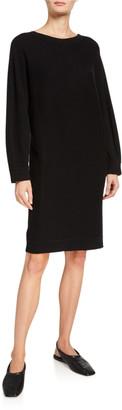 Vince V-Back Dolman-Sleeve Shift Dress