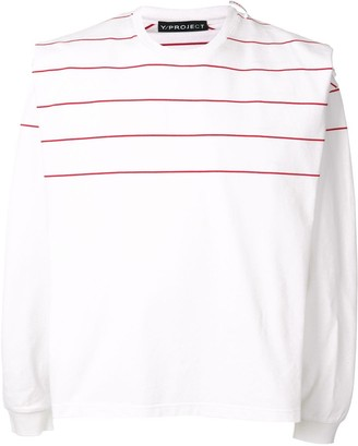 Y/Project layered striped pattern shirt T-shirt