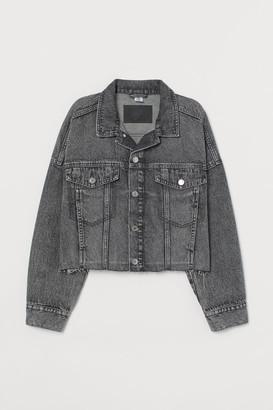 H&M Short Denim Jacket - Gray
