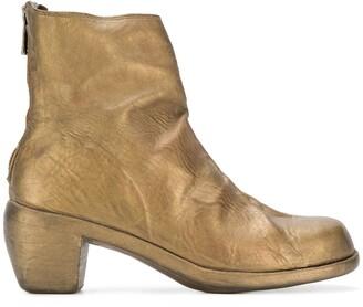 Guidi Worn Low Heel Boots