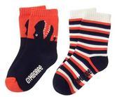 Gymboree T-Rex & Stripes Socks
