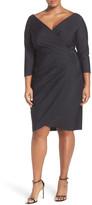 Alex Evenings Embellished Faux Wrap Dress (Plus Size)