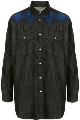Facetasm long sleeved denim shirt