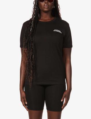Misbhv Business Of Pleasure slogan-print stretch-organic cotton T-shirt