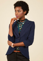 ModCloth Fine and Sandy Blazer in Navy in M